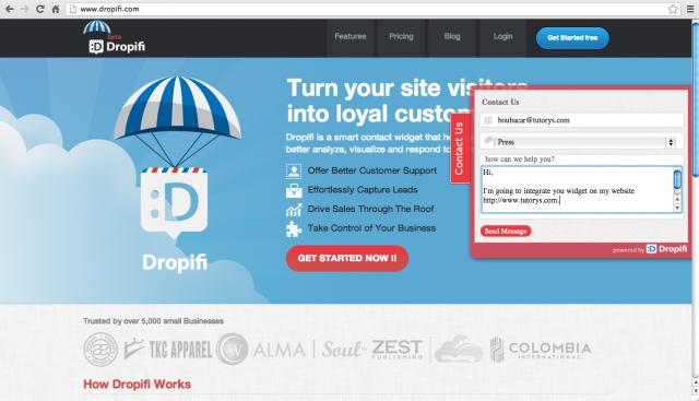 Dropifi - Home page