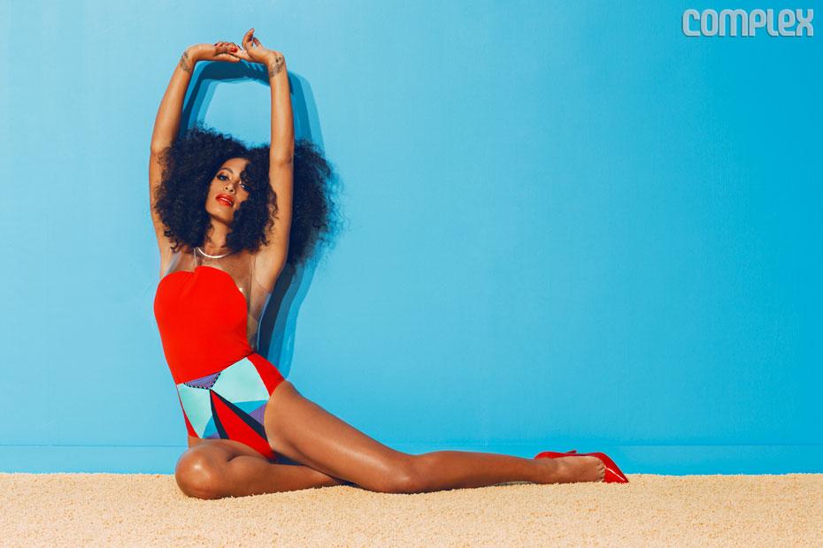 Solange Knowles en couverture de Complex de juin/ juillet 2013