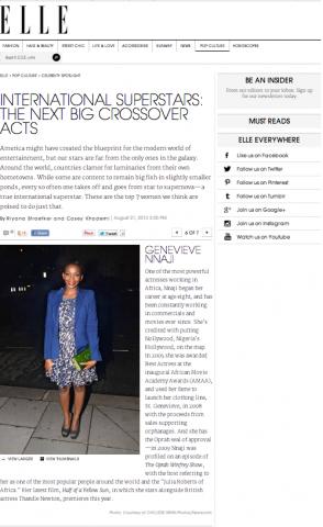 Genevieve Nnaji Elle Magazine