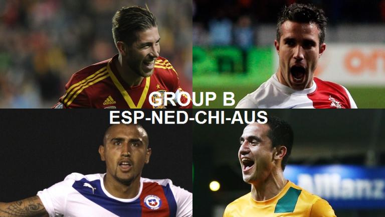 Coupe du Monde 2014 Groupe B : Espagne, Pays-Bas, Chili, Australie