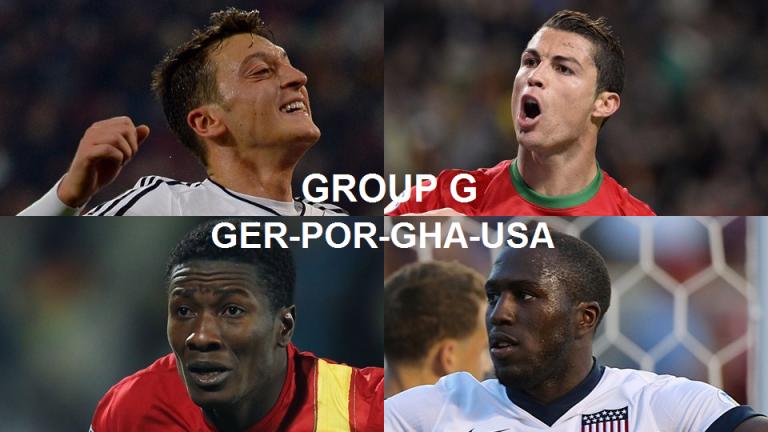 Coupe du Monde 2014 Groupe G : Allemagne, Portugal, Ghana, Etats-Unis