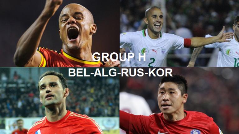 Coupe du Monde 2014 Groupe H : Belgique, Algérie, Russie, Corée du Sud