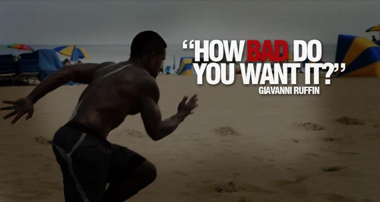 How bad do you want to be successful ?
