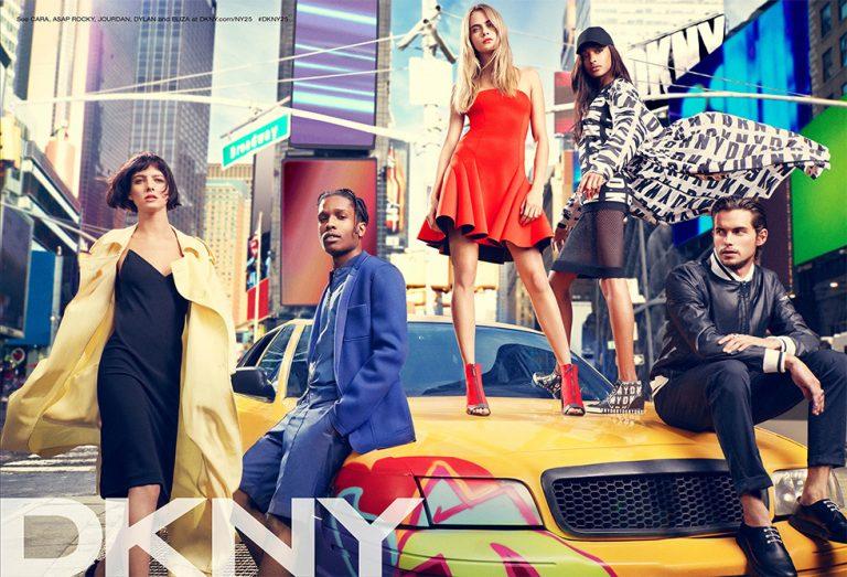 Jourdan Dunn et A$AP Rocky pour la collection printemps 2014 de DKNY