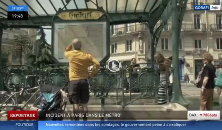 Premier reportage video du Gorafi sur le métro de Paris