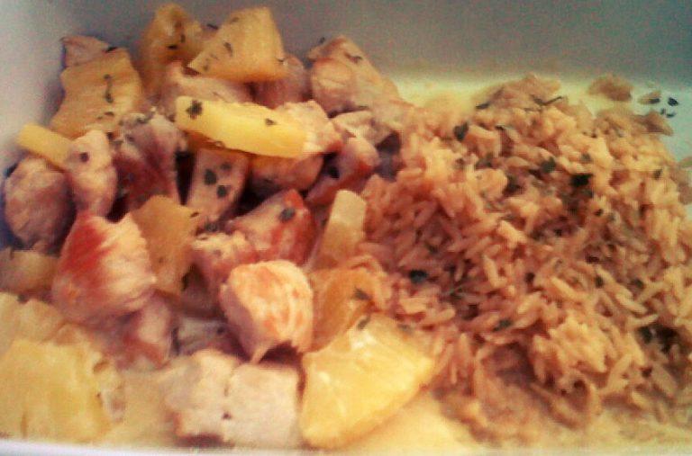 Recette facile du poulet-coco ananas