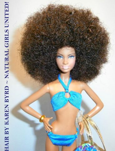 Natural Hair Poupee Afro Doll-1