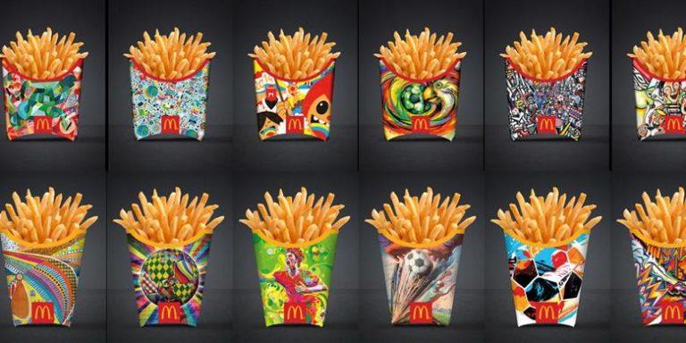 Quand la coupe du monde relooke les cornets McDonald's