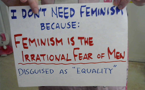 I don't need feminism because...