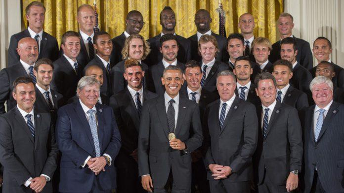 Barack Obama champion MLS 2013 Aurélien Collin
