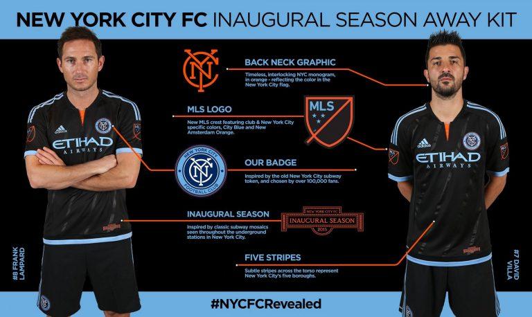 Le New York City FC dévoile son maillot extérieur