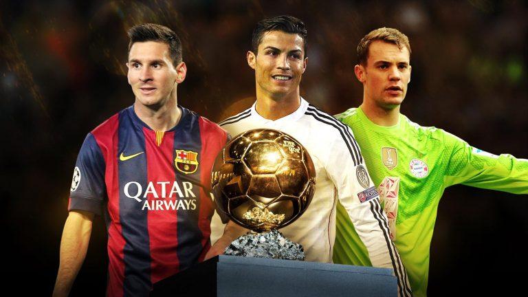 Manuel Neuer, Lionel Messi et Cristiano Ronaldo finalistes du Ballon d'Or 2014