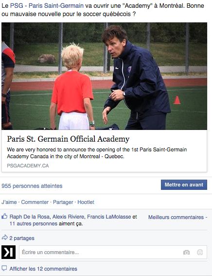 Pourquoi le Paris Saint-Germain ouvre une Académie à Montréal