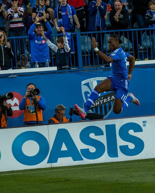 L'attaquant de l'Impact de Montréal Didier Drogba élu Joueur de la semaine de la MLS