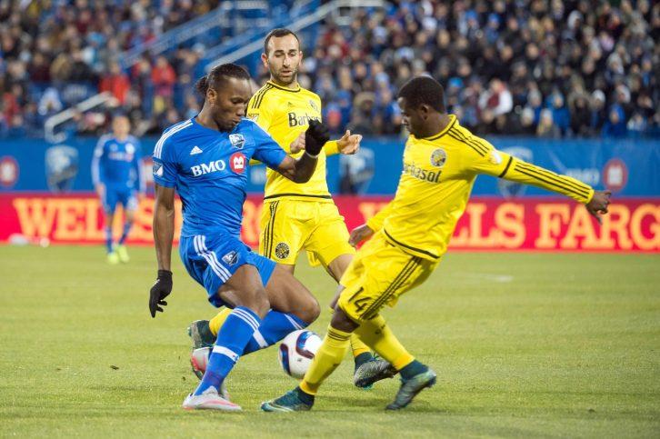 L'Impact de Montréal a remporté 2-1 le match aller de sa série face au Crew de Columbus.