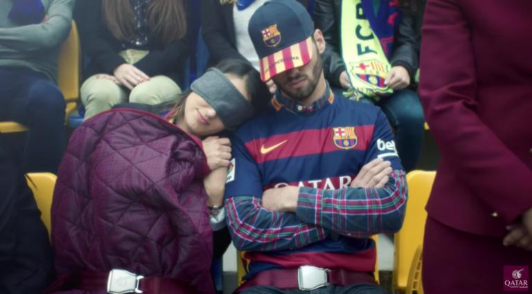 Les stars du FC Barcelone dans une publicité de sécurité aérienne signée Qatar Airways