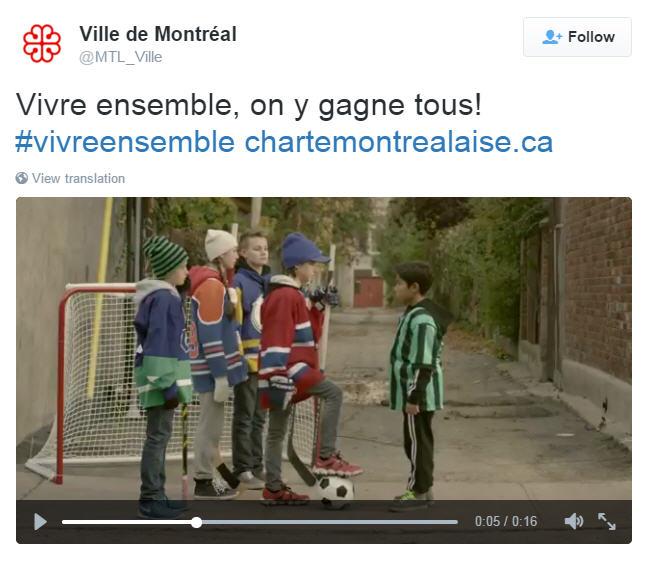 Quand la Ville de Montréal prône  l'intolérance au Soccer