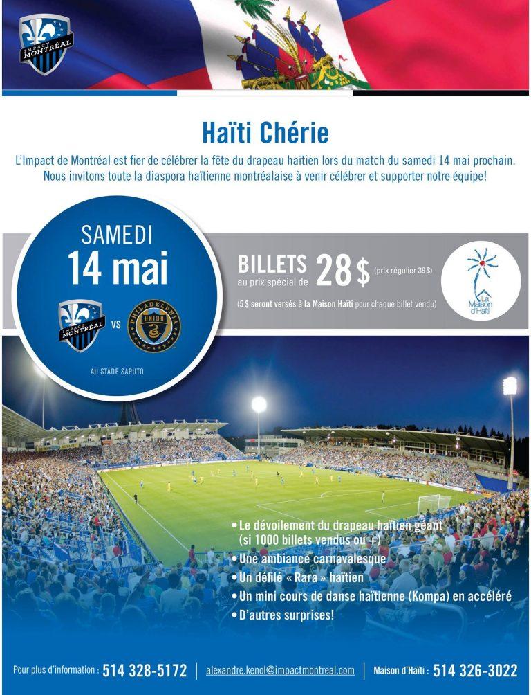 Match Haiti Chérie : L'Impact de Montréal célèbre le Drapeau Haitien