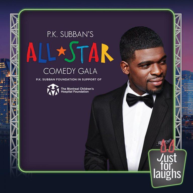 Gala de comédie « All Star » pour P.K. Subban à Just For Laughs