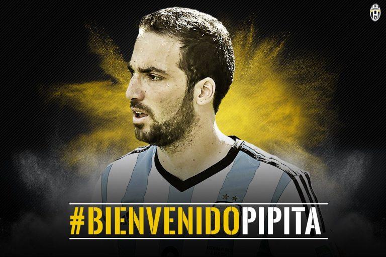 #BienvenidoPipita : Gonzalo Higuain signe à la Juventus pour 90 M€