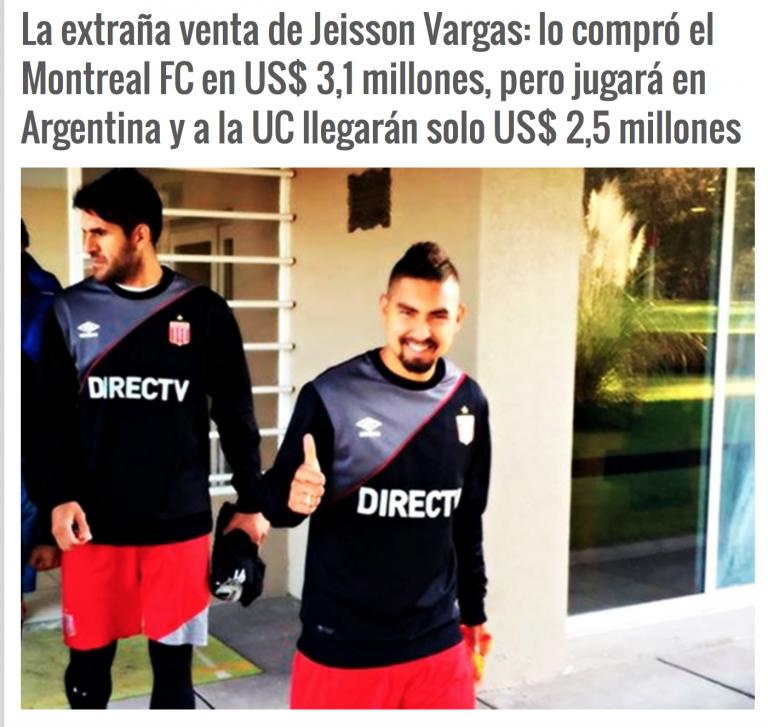 L'étrange transfert de Jeisson Vargas, acheté par le FC Montréal.