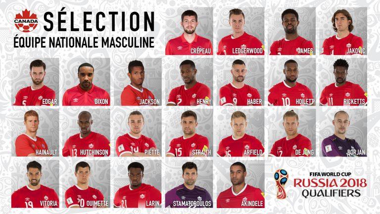 Le Canada joue sa place en Coupe Du Monde 2018