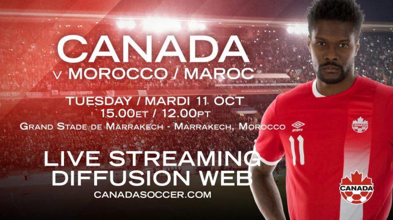L'équipe nationale du Canada affronte le Maroc