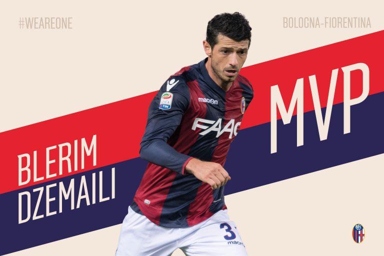 Blerim Dzemaili MVP du mois avec le Bologna FC.