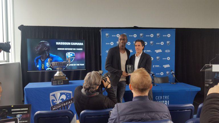Hassoun Camara est nommé joueur défensif de l'année pour l'Impact de Montréal