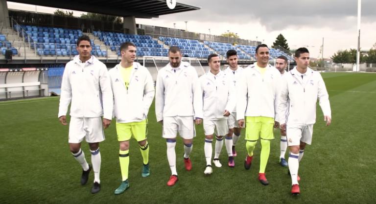 FIFA 17 : Des joueurs du Real Madrid testent leur adresse sur un terrain (vidéo)