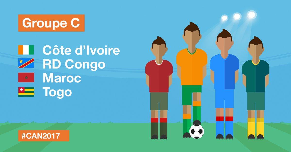CAN 2017 Algérie Tunisie Sénégal Zimbabwe