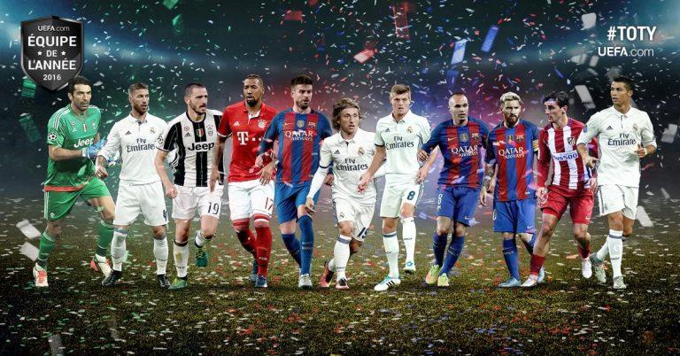 Les équipes de l'année 2016 par l'UEFA et par la FIFA!