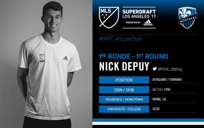 impact montreal nick depuy mls super draft
