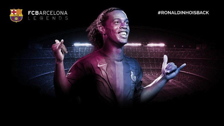 Ronaldinho is back : Il revient en tant qu'ambassadeur du FC Barcelone