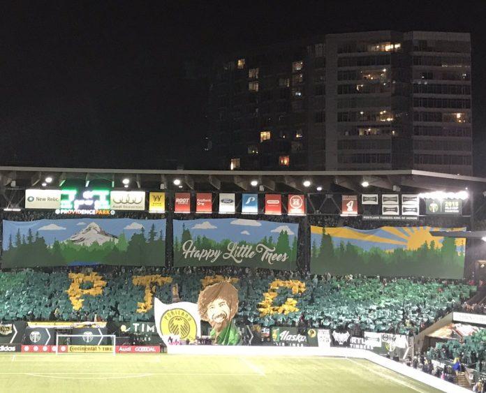 Timbers Army Tifo MLS