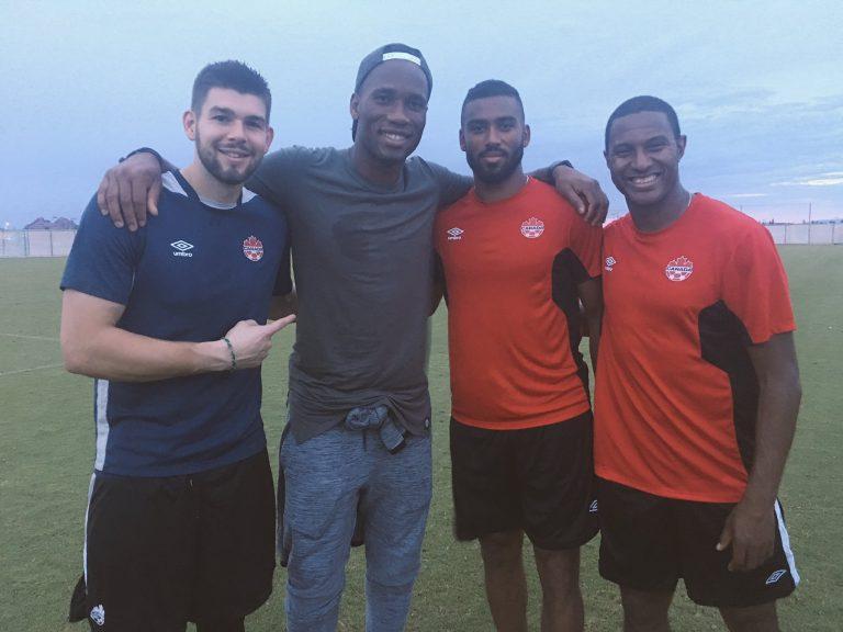Didier Drogba rend visite à ses ex-coéquipiers de l'Impact de Montréal