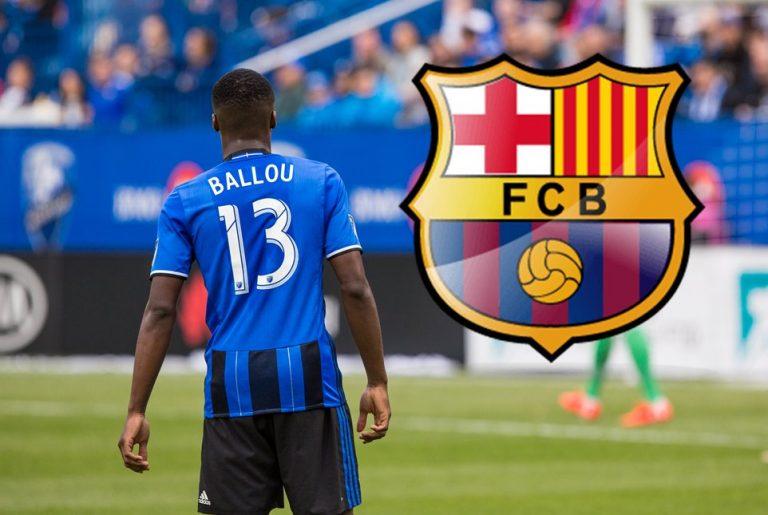 Ballou Jean-Yves Tabla avec le FC Barcelone