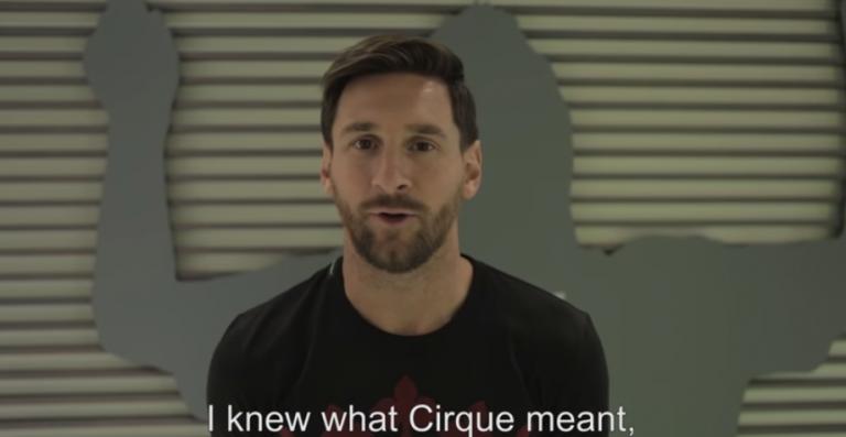 Partenariat entre Lionel Messi et le Cirque du Soleil