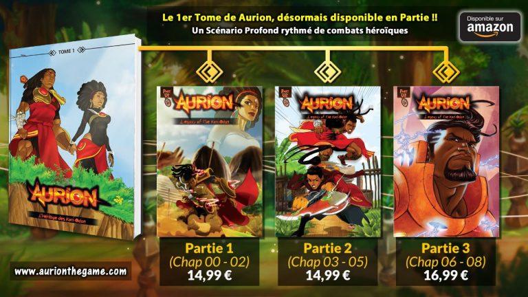 La BD Aurion est désormais disponible en petit format couleur !