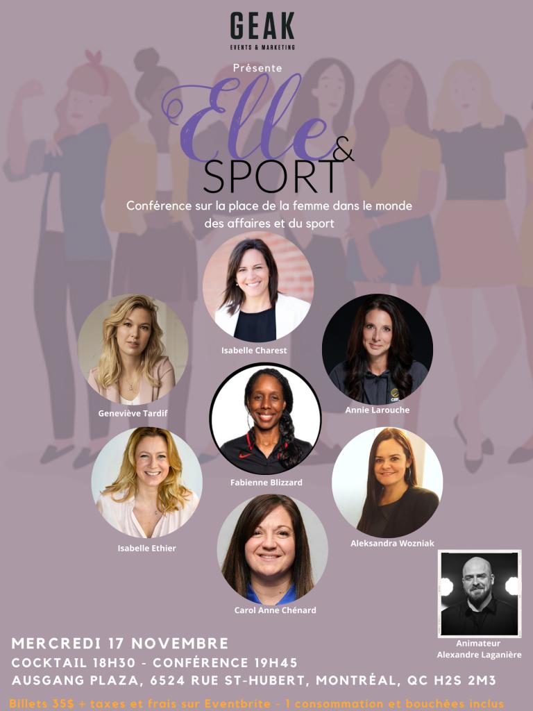 ELLE & SPORT: La place de la femme dans le monde des affaires du sport – 3e Édition
