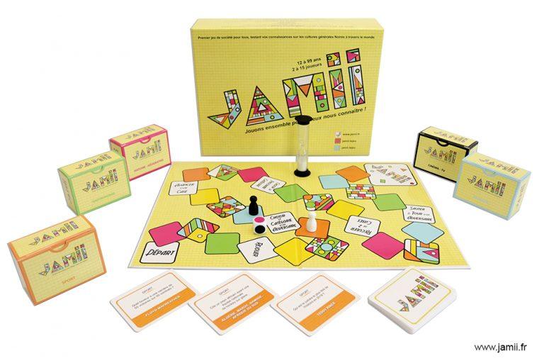 JAMII est le premier jeu de société testant les connaissances sur la culture générale et populaire de l'Afrique et de sa diaspora.